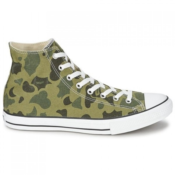 Converse All Star Camo Print Hi Olive Branch Women...