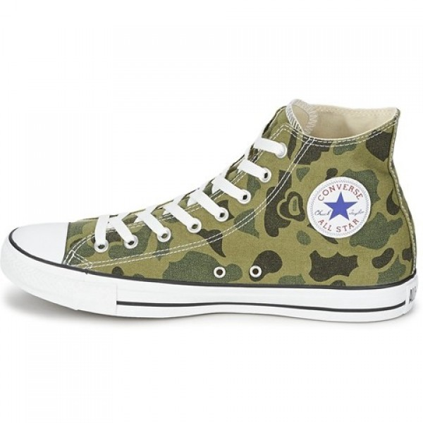 Converse All Star Camo Print Hi Olive Branch Women's Shoes