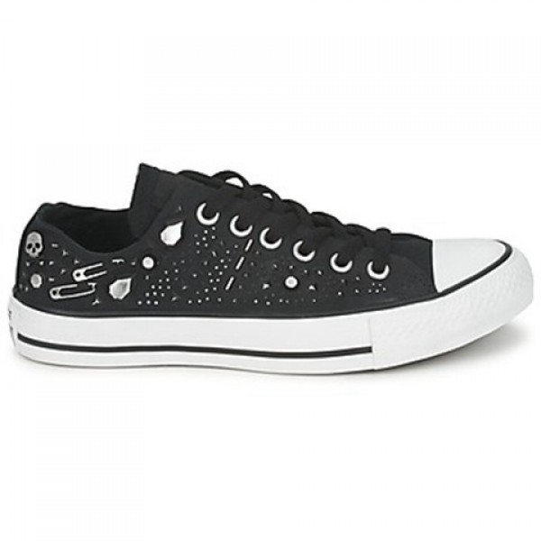 Converse All Star Rhinestone Hardware Ox Black Women's Shoes
