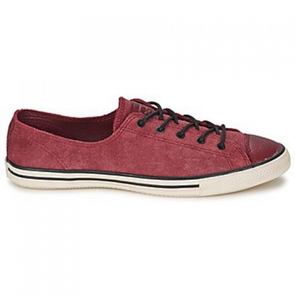 Converse All Star Fancy Leather Ox Bordeaux Women'...