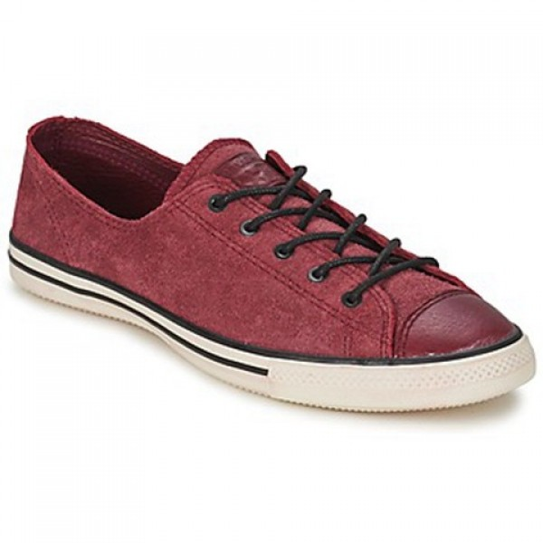 Converse All Star Fancy Leather Ox Bordeaux Women's Shoes