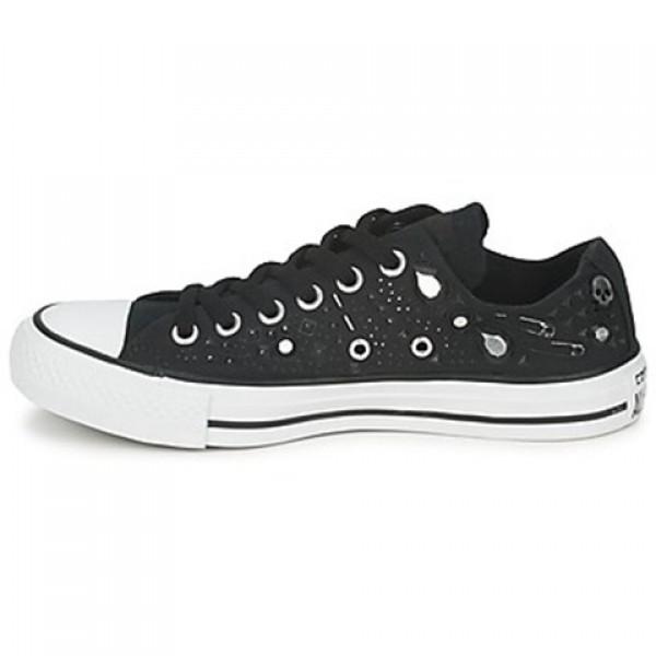 Converse All Star Rhinestone Hardware Ox Black Women's Shoes