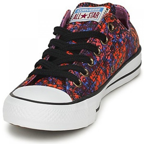 Converse All Star Floral Ox Red Multi Women's Shoes