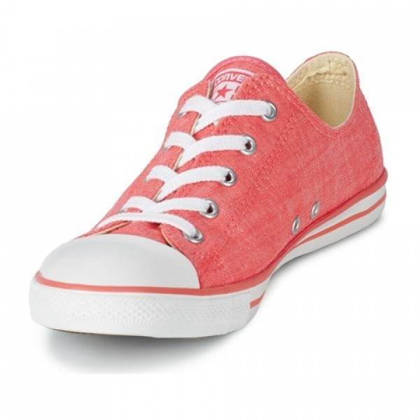 Converse All Star Dainty Denim Ox Carnival Pink White Women's Shoes