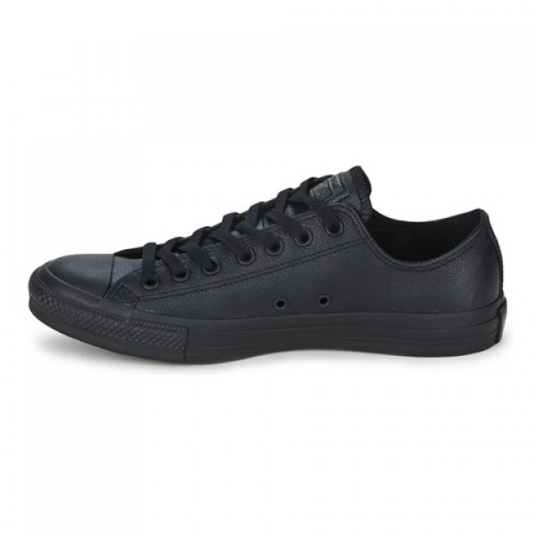 Converse All Star Leather Ox Black Women's Shoes