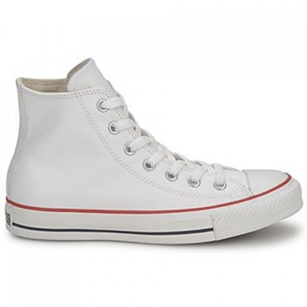 Converse All Star Leather Hi White Men's Shoes