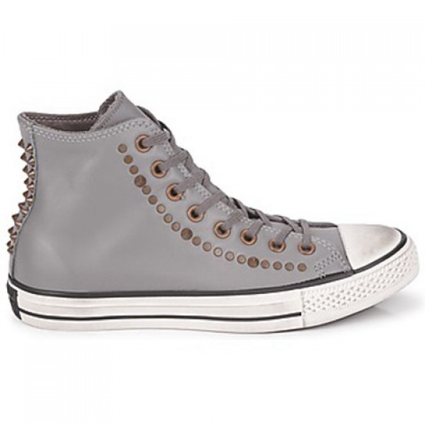 Converse All Star RC Leather Studded Hi Gray Men's...