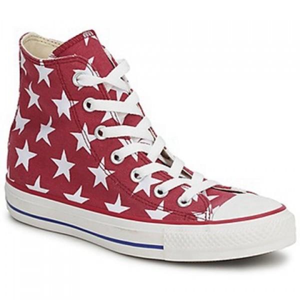 Converse All Star Big Star Print Hi Red White Men's Shoes