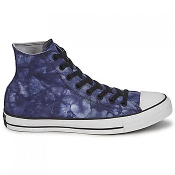 Converse All Star Tie Dye Hi Blue Tie White Men's ...
