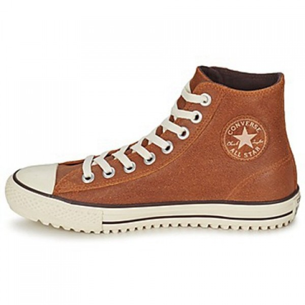 Converse All Star Boot Vintage Leather Hi Brown Men's Shoes
