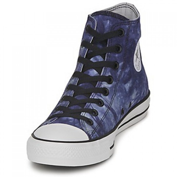 Converse All Star Tie Dye Hi Blue Tie White Men's Shoes