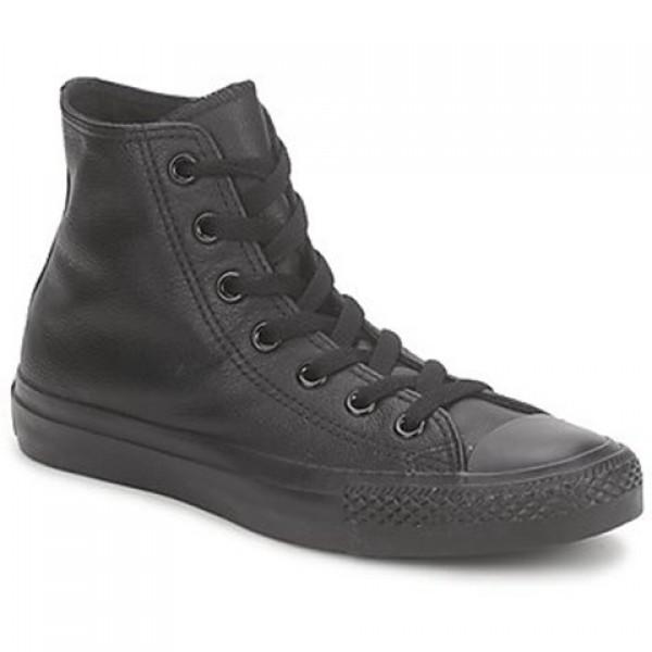 Converse All Star Monochrome Cuir Hi Black Men's Shoes