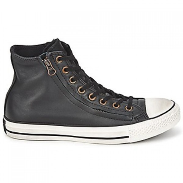 Converse All Star Double Zip Leather Hi Jet Black ...