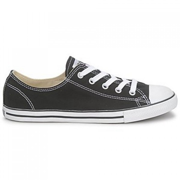 Converse All Star Dainty Canvas Ox Black Women's S...