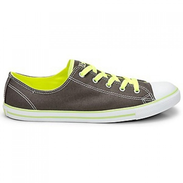 Converse All Star Dainty Neon Ox Charcoal Neon Yel...