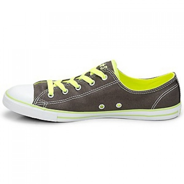 Converse All Star Dainty Neon Ox Charcoal Neon Yellow Women's Shoes