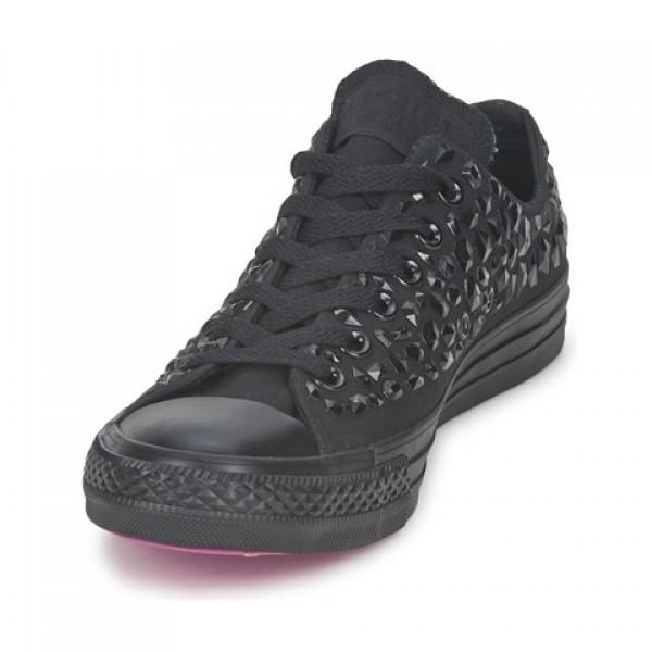 Converse All Star Rhinestone Ox Black Women's Shoes