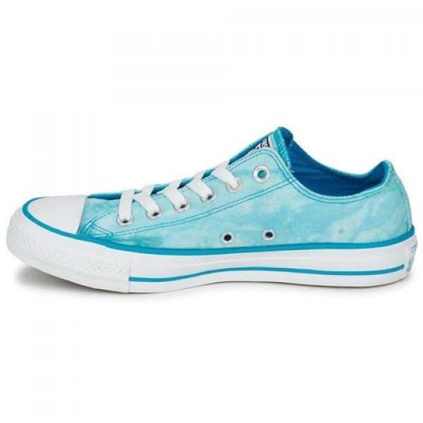 Converse All Star Tie Dye Ox Turquoise White Women's Shoes