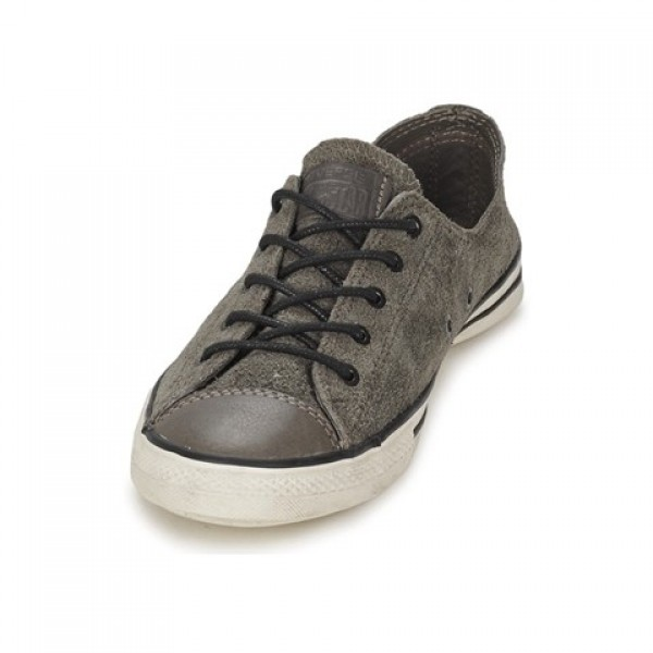 Converse All Star Fancy Leather Ox Anthracite Women's Shoes