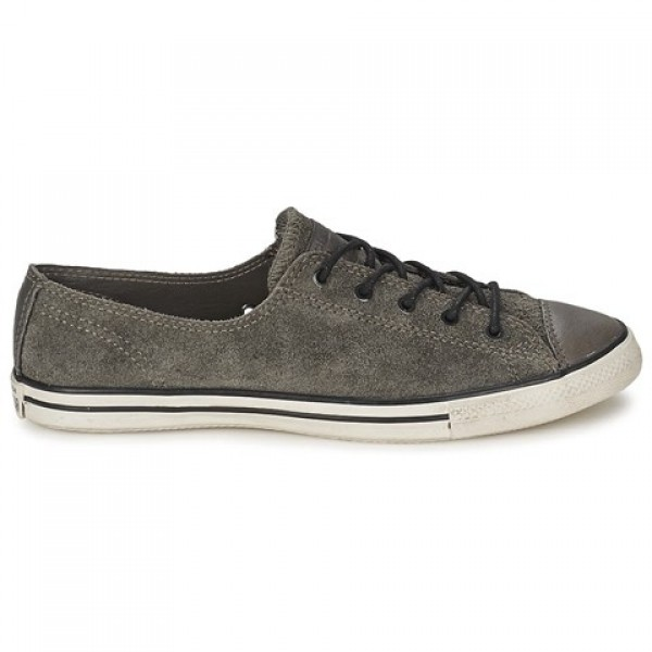 Converse All Star Fancy Leather Ox Anthracite Wome...
