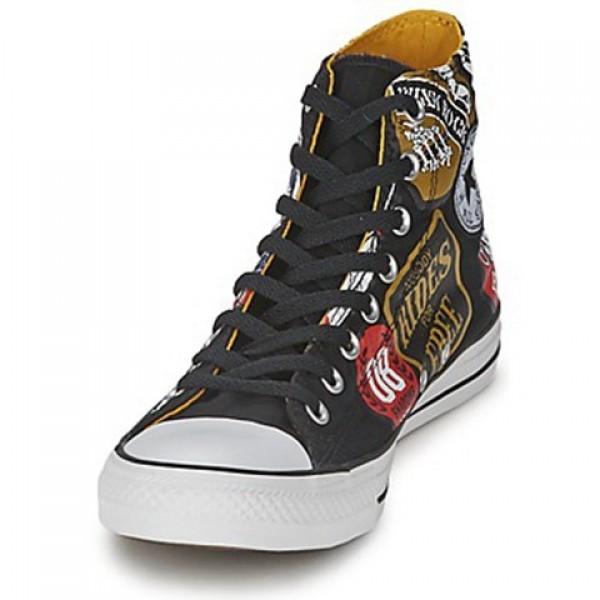 Converse All Star Patches Print Hi Black Patches Print Men's Shoes