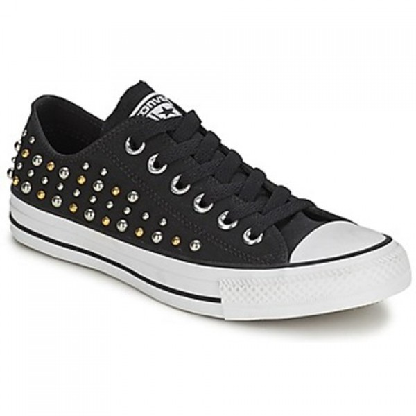 Converse All Star Studs Ox Black Women's Shoes