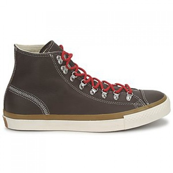 Converse All Star Leather Hiker Hi Brown Men's Sho...