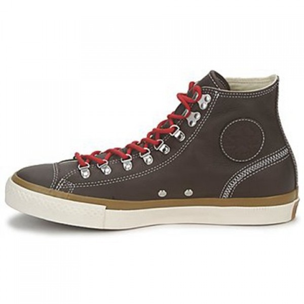 Converse All Star Leather Hiker Hi Brown Men's Shoes