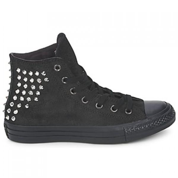 Converse All Star Collar studs Leather Hi Black Wo...