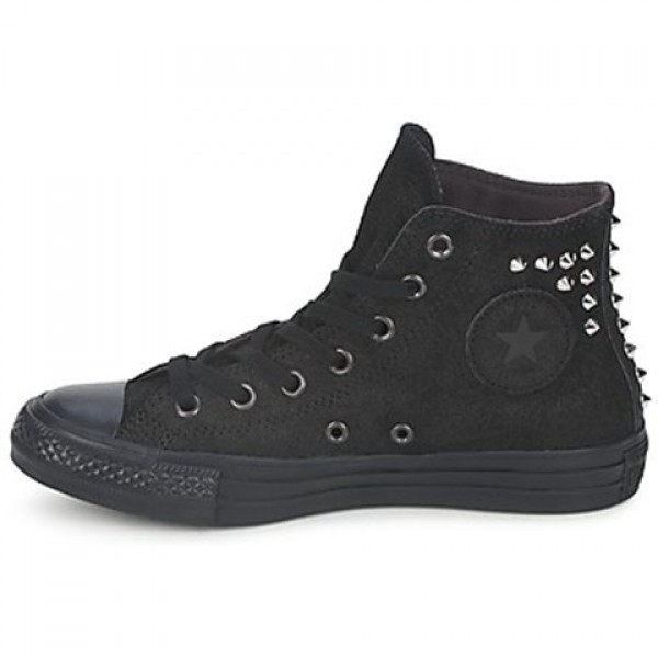 Converse All Star Collar studs Leather Hi Black Women's Shoes