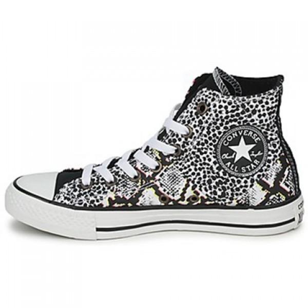 Converse All Star Animal Print Hi White Multi Women's Shoes