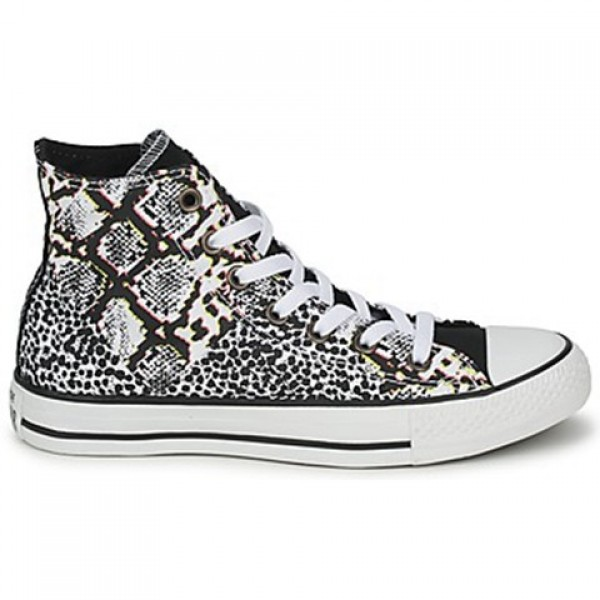 Converse All Star Animal Print Hi White Multi Wome...