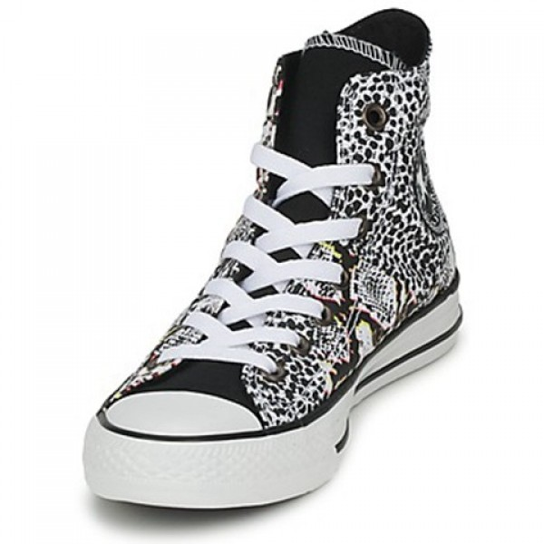 Converse All Star Animal Print Hi White Multi Women's Shoes