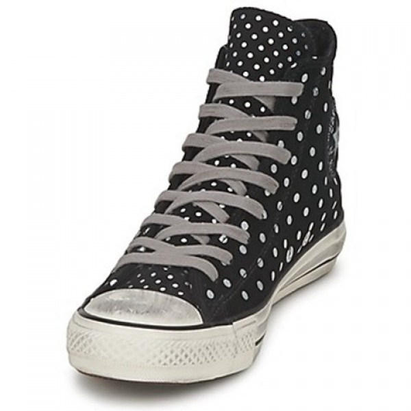 Converse All Star Printed Suede Hi Black Women's Shoes