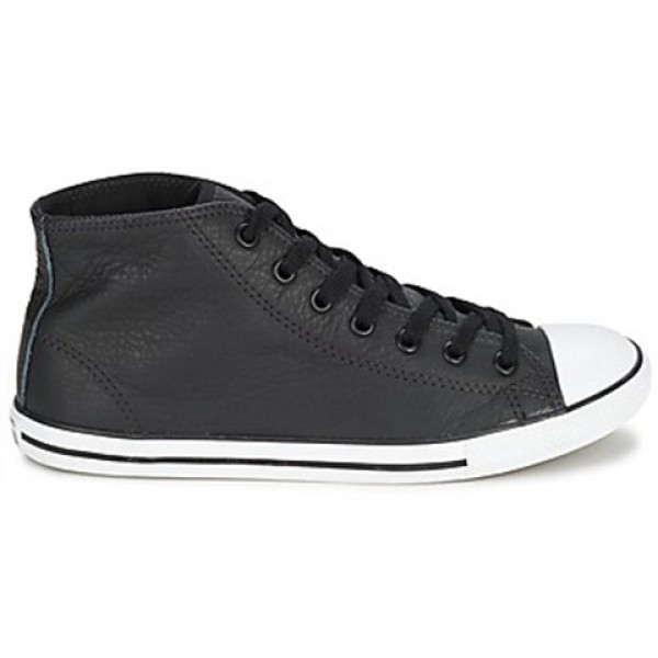 Converse All Star Dainty Leather Mid Black Women's...