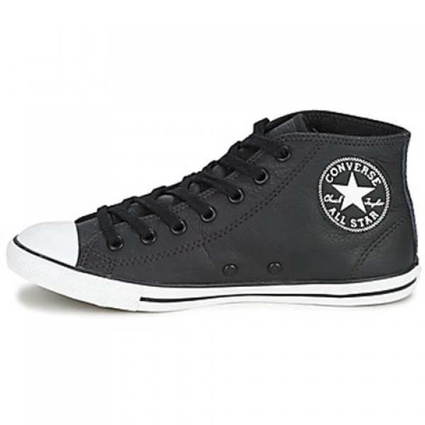 Converse All Star Dainty Leather Mid Black Women's Shoes