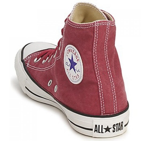 Converse All Star Basic Washed Hi Red Brick Women's Shoes