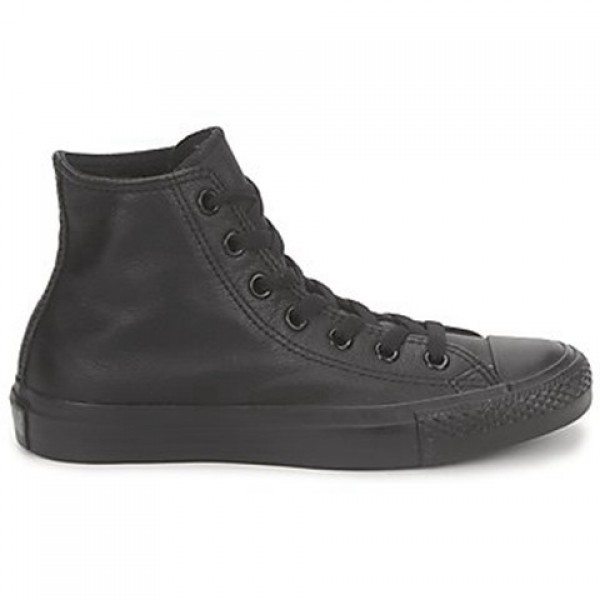 Converse All Star Monochrome Cuir Hi Black Women's Shoes