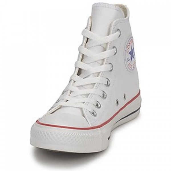 Converse All Star Leather Hi White Women's Shoes