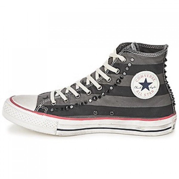 Converse All Star Flag Hi Grey Black Women's Shoes