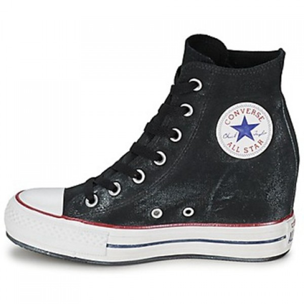 Converse All Star Platform Plus Star Playerarkle Wall Starhed Hi Black Women's Shoes