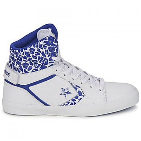 Converse All Star Mid White Blue Women's Shoes