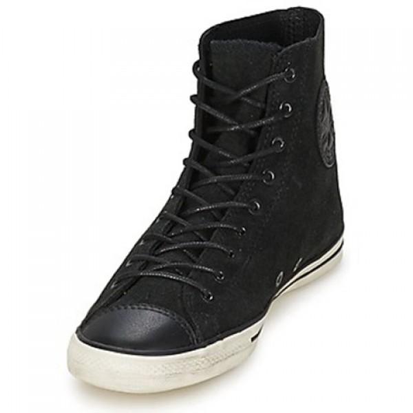 Converse All Star Fancy Leather Hi Black Women's Shoes