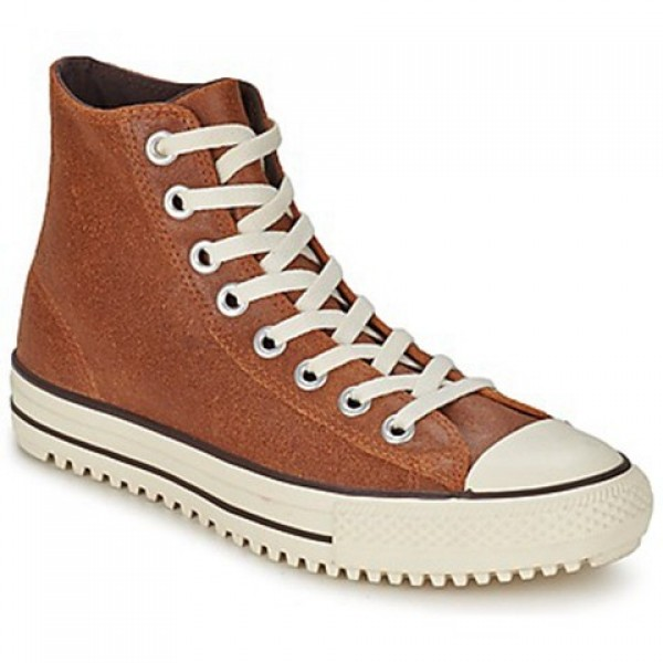 Converse All Star Boot Vintage Leather Hi Brown Women's Shoes