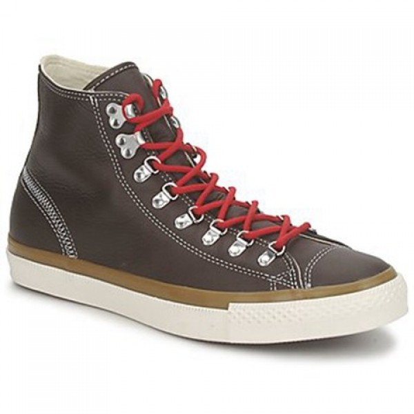 Converse All Star Leather Hiker Hi Brown Women's Shoes