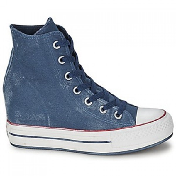 Converse All Star Platform Plus Star Playerarkle Wall Starhed Hi Marine Women's Shoes