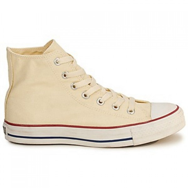 Converse All Star Ctas Hi White Beige Women's Shoe...