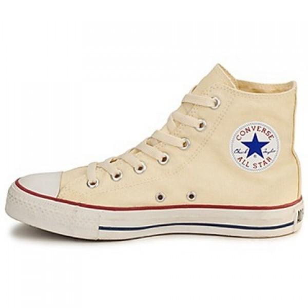 Converse All Star Ctas Hi White Beige Women's Shoes