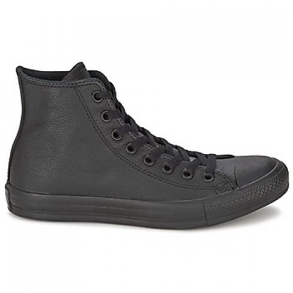 Converse All Star Leather Hi Black Women's Shoes