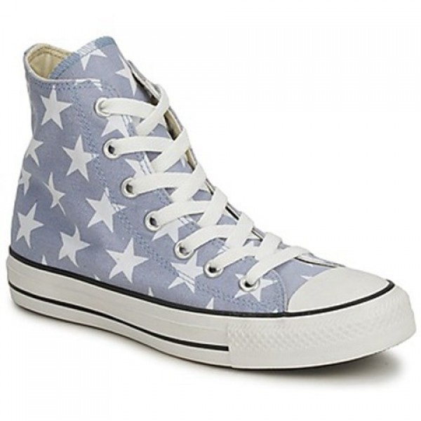 Converse All Star Big Star Print Hi Grey White Women's Shoes